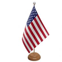 USA - TABLE FLAG WITH WOODEN BASE